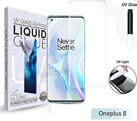 Mobistyle UV Tempered Glass for oneplus 8 Advanced Border-less Full Edge to Edge UV Screen Protector Tempered Glass For oneplus 8 -(With Installation kit)
