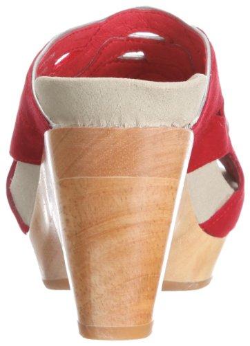 Earth Earthies Tropez schwarz 5300018 - Zapatos de vestir de ante para mujer Rojo