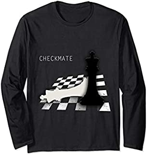 Checkmate Funny Cute Gift For Cool Chess Player Long Sleeve T-shirt | Size S - 5XL