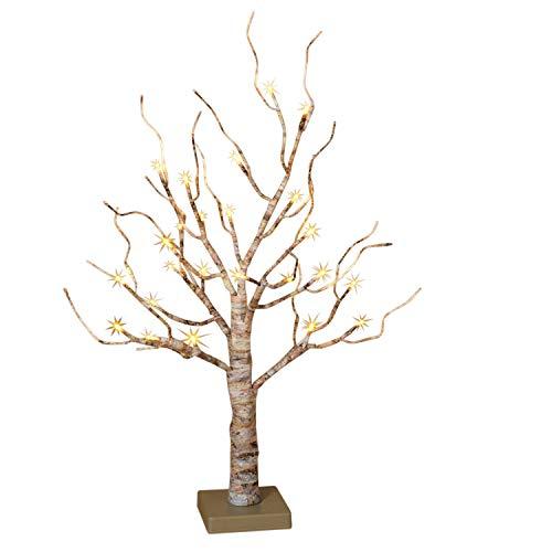 Birch 2' (Gerson Company LED Birch Christmas Tree White 24 in. 1 pk)