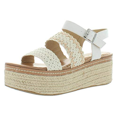 Chinese Laundry Women's Wedge Sandal, Cream, 10