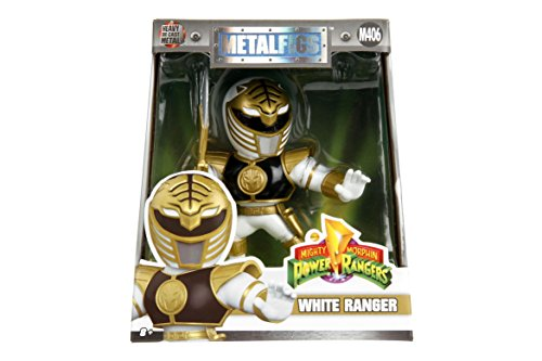 Jada Toys Power Rangers White Ranger Diecast Figure Collectible Toy, 4