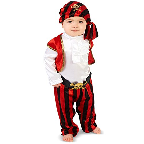[Pirate Captain Infant Costume 12-18M] (Toddler Boys Pirate Costumes)