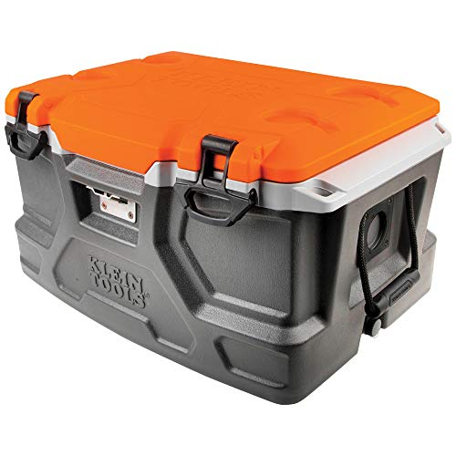 Klein Tools 55650 Cooler Tough Box, 48 Quart Tradesman Pro Jobsite Ice Chest
