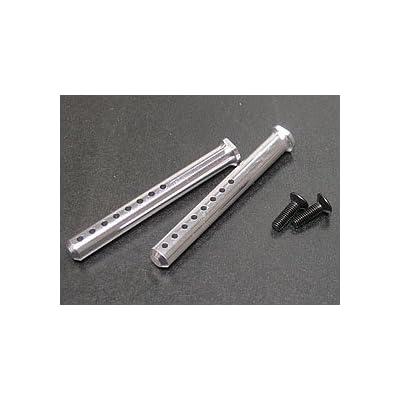 3RACING Integy RC Model Hop-ups 3RAC-BP50/SI Aluminium Body Post 50mm - Silver