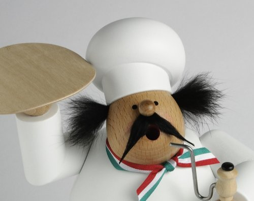 KWO Pizza Baker German Christmas Incense Smoker Pizzeria Man Made in Germany New by KWO (Image #2)