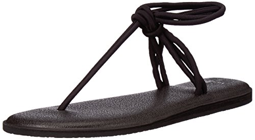 Sanuk Women's Yoga Sunshine Sandal, Black, 08 M US