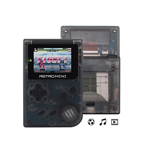 (Retor MINI) Handheld Game Console , Mini Translucent Game Console GBA System , build-in with 40 Classic GBA Games Console , 900+ Classic Games support TF card, for Kid's Christmas Thanksgiving Gift