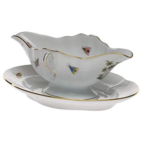 Herend Rothschild Bird Porcelain Gravy Boat