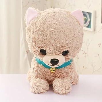 Campanas Cengbao cabeza grande perro peluche muñeca vaso perro poodle doll doll juguetes para perros y gatos, regalos para niños tarjeta oscuro su color, ...