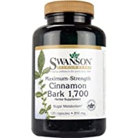 Swanson Maximum Strength Cinnamon Bark 1,700 (Sugar Metabolism, 850mg, 120 Capsules)