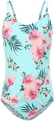 Girls One Piece Swimsuit Hawaiian Ruffle Swimwear Beach Bathing Suit