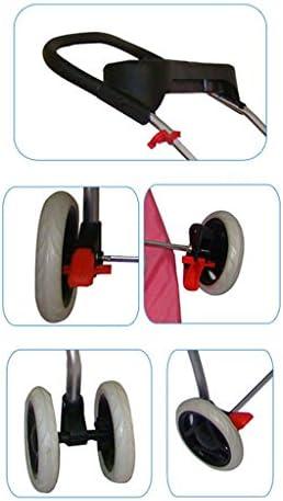 WJ ダブルペットのベビーカー小型で軽いポータブル折り畳み式洗濯可能な猫のベビーカー子犬のスクーターアウトドアトラベルペット用品 ペット用品ペットバッグ (Color : Pink)