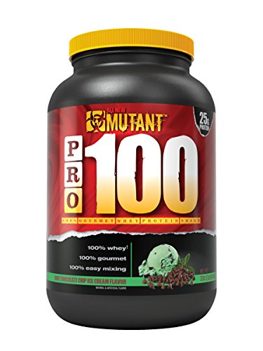 Mutant Pro – 100% Whey Protein Shake With No Hidden Ingredients, Made In Gourmet, Delicious Flavors – Mint Chocolate Chip Ice Cream (Protein 2 Lb Chocolate Mint)