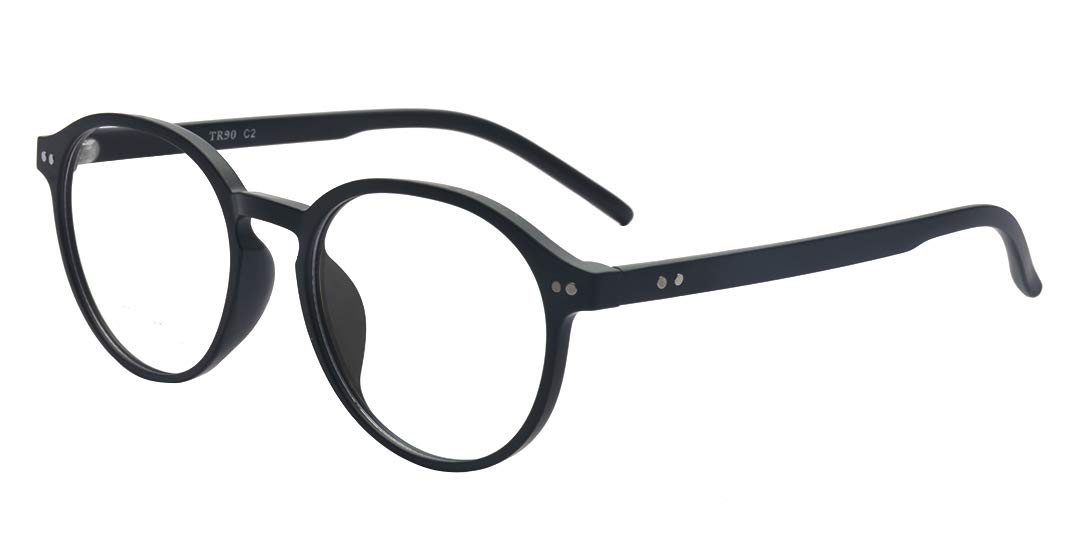 ALWAYSUV Black Nearsighted Shortsighted Myopia Glasses For Women Men These are not reading glasses -3.5