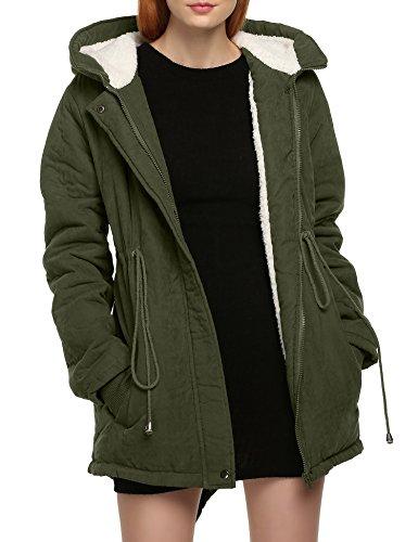 Meaneor-Womens-Winter-Warm-Thicken-Fleece-Jacket-Hooded-Parka-Coat-Top