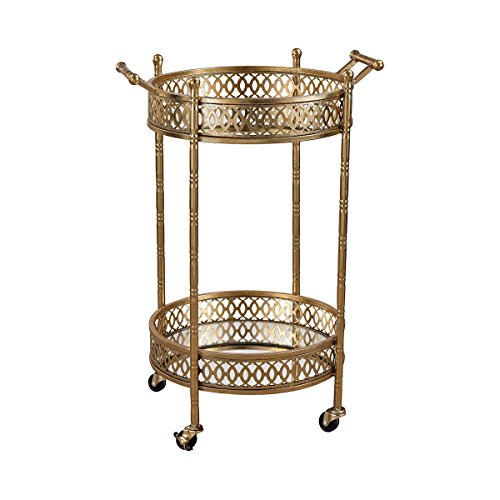 Sterling Home Julep Banded Round Bar kitchen cart, gold