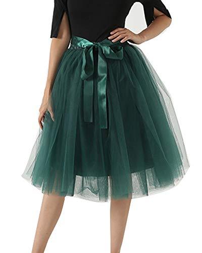 Femme 6 Petticoat Couches Tulle Jupe Tutu Jupon Partie Mengyu Danse Vert2 Rétro L5RAq3jSc4