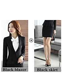 Good-Fortune Work wear Women Clothes Set Long Sleeve Blazer with Trouser Office Ladies