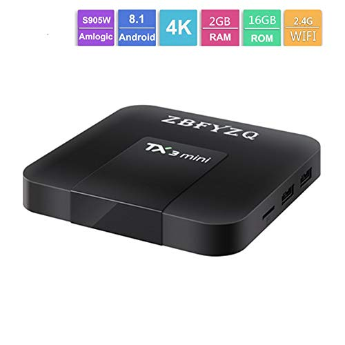 Zbfyzq TX3 Mini S905W tv Box Network Set top Box Android 8.1 2g 16g