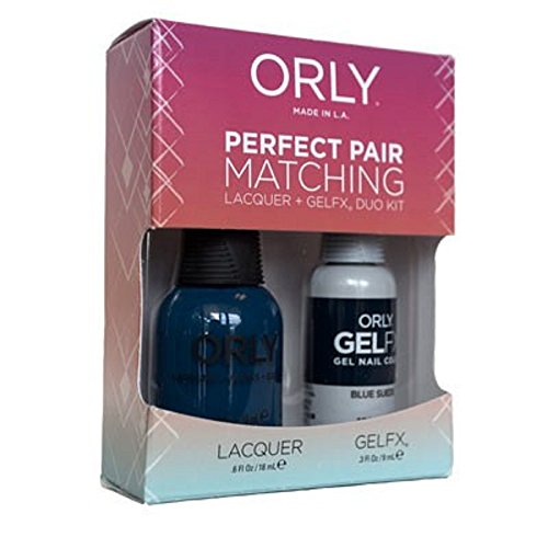 Orly Blue Suede Perfect Pair Matching Lacquer Plus Gelfx Duo