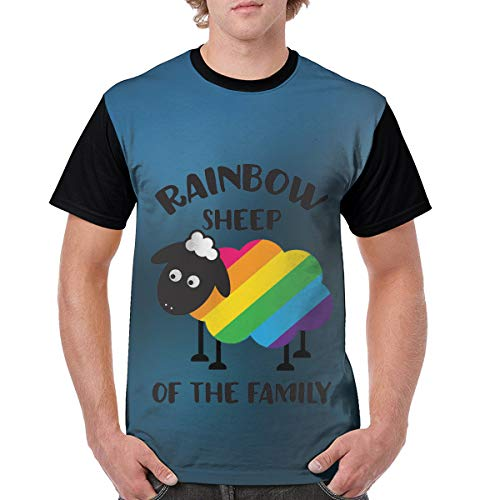 Rangers Team Snowman - Shenigon Men T Shirt Rainbow Sheep of The Family Short Sleeve Black 31