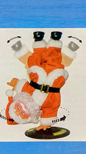 Dancing Santa Claus Animated Christmas Decoration Musical Holiday Indoor Figurine 10 Inches Tall