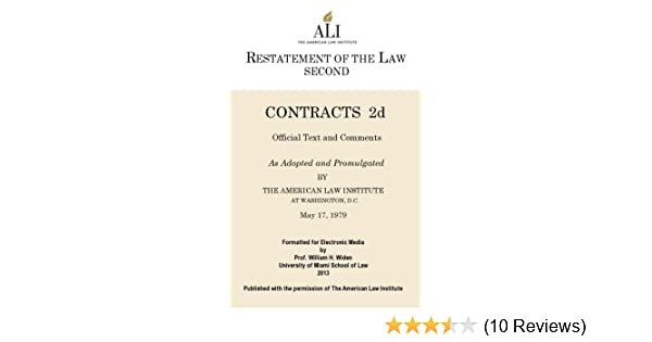 Restatement second of contracts kindle edition by american law restatement second of contracts kindle edition by american law institute professional technical kindle ebooks amazon fandeluxe Image collections
