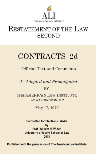 Restatement second of contracts kindle edition by american law restatement second of contracts by american law institute fandeluxe Image collections