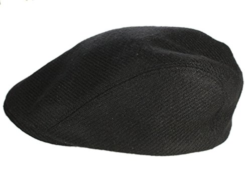 Irish Touring Cap Extended Brim Black Tweed - In Men Tweed