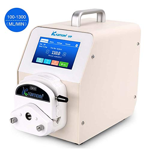 Wellish Variable Speed Peristaltic Pump Laboratory Precision Dosing Peristaltic Metering Pump with 2m Length Silicone Tube Foot Switch Flow Rate 100~1300 ml/min Per Channel