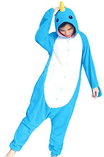 dressfan Animal Cosplay Costume Narwhal Pajamas (Narwhal Costumes)