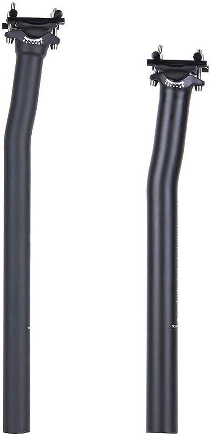 QIKU Tija de sill/ín de Bicicleta de Carretera Ultraligera MTB//Carretera 27.2//31.6 Carretera 0 /° 7 /°
