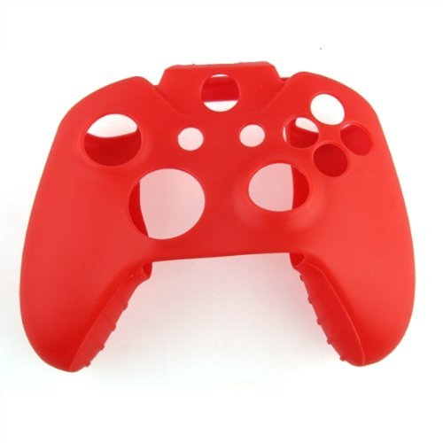 Soft Silicone Gel Protective Skin Cover Case for XBOX ONE Controller Red