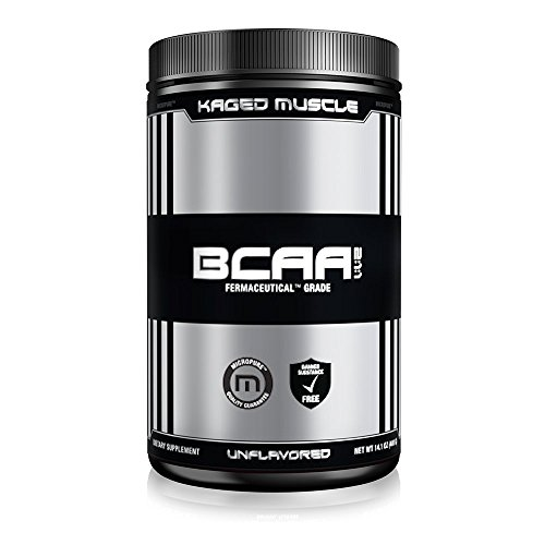 Kaged Muscle Pure 2:1:1 BCAA Powder, 400 g, Unflavored 72 Servings, Non-GMO, Gluten Free, Fermented