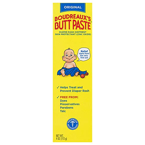 Boudreaux's Butt Paste Diaper Rash Ointment | Original | 4 Ounce (Pack...