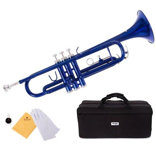 trompeta azul Mendini con funda y accesorios (xmp)