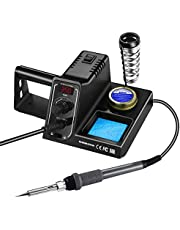 Holife Soldering Iron Station, 60W Premium Rework Station Soldering Iron Set with Temperature Control (90℃-480℃), LED Digital Display, Upgrade Soldering Stand, Ideal for School Lab & Hobby