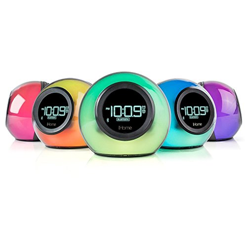 iHome iBT29BC Bluetooth Color Changing Dual Alarm Clock FM Radio with USB Charging and Speakerphone by iHome (Image #1)