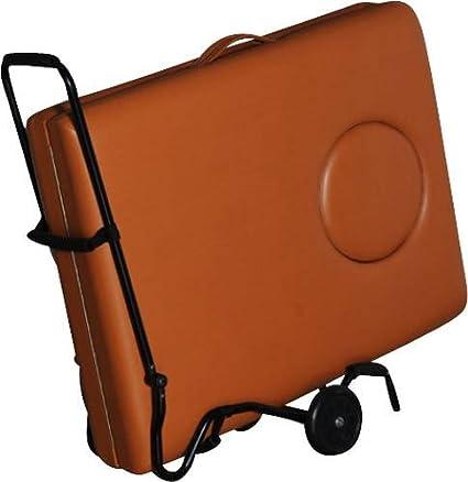 Carrito de transporte para dispositivos móviles para camilla de masajes