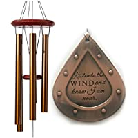 DIRECT Shipping Large Sympathy Memorial Deep Tone Wind Chime Gift after loss Copper Rush Shipping for Funeral Loss in Memory of Loved One Listen to the Wind Sympathy Wind Chimes