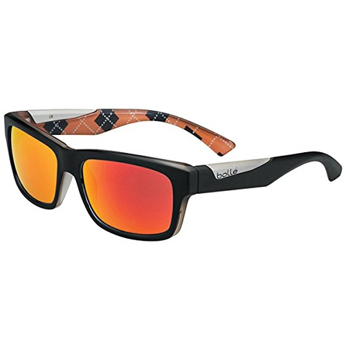Bolle Jude Sunglasses, Matte Black/Orange - French Brands Sunglasses