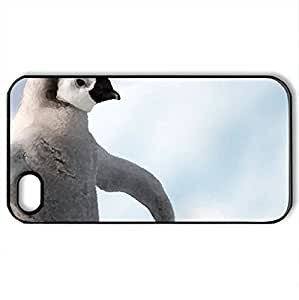 lintao diy Baby_Penguin_Antarctica - Case Cover for iPhone 4 and 4s (Watercolor style, Black)