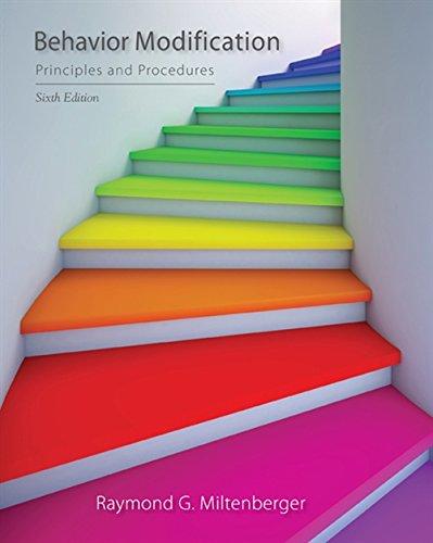 Behavior Modification: Principles and Procedures