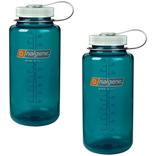 Nalgene Everyday Triton Wide Mouth 32oz Bottle - 2 Pack (Trout Green)