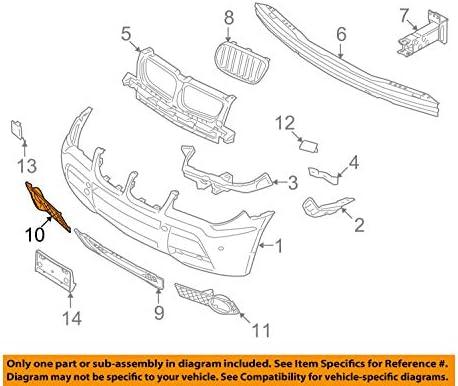 BMW X3 E83 LCI NEW GENUINE FRONT M SPORT BUMPER O//S RIGHT FOG GRILL 3417726