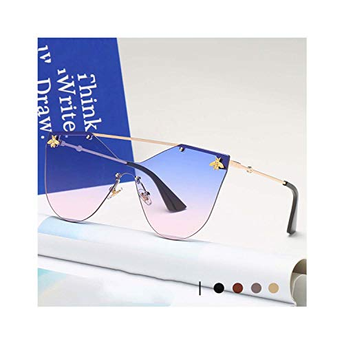 Women Men Vintage Gold Small Bee Sun Glasses Female Colorful Shades Male Goggles ()
