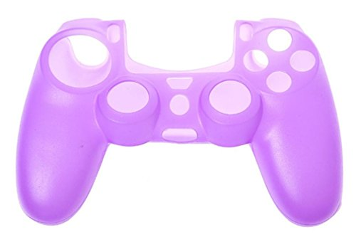 Price comparison product image Mchoice Soft Silicone Case Cover For Playstation PS4 Controller (Purple)