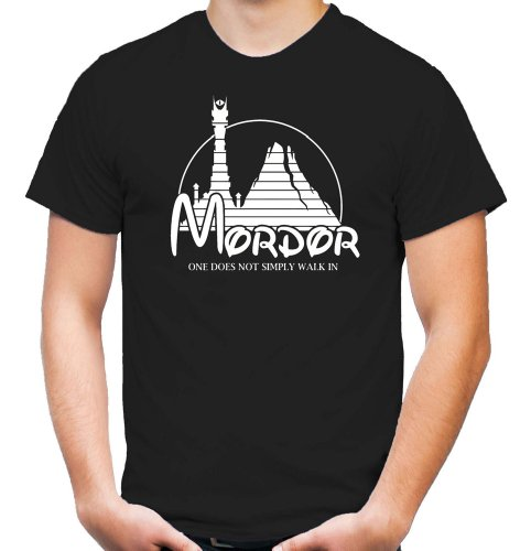 Mordor T-Shirt | Herr der Ringe | Kult | Machtzentrum | Herren | Männer | Der eine Ring | Mein Schatz | Fun