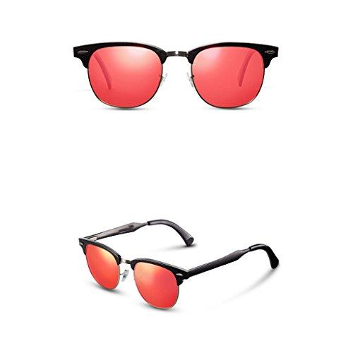 C Femenina Sol Personalidad Gafas B Redonda Gafas Marea Conducción De De De Color Gafas Sol Elegante Masculina Sol Retro Cara GAOYANG Polarizadas fxO1S1q